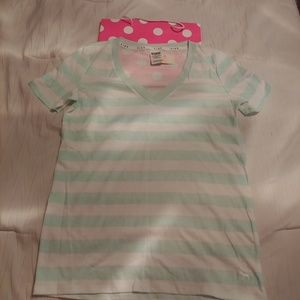 Pink Victoria's Secret Tee Stripped NWT